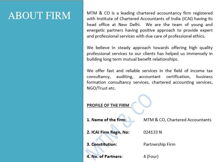 accounting company profile template