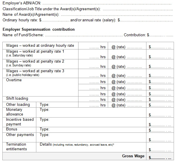 example of payslip template in word format