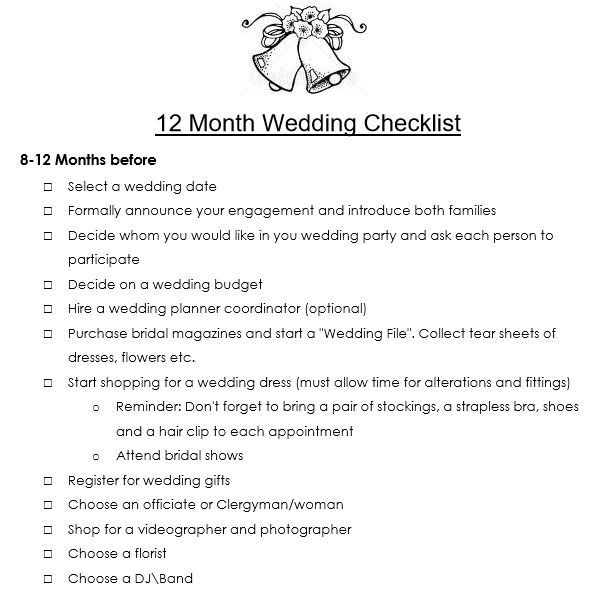 wedding budget checklist pdf
