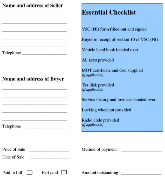 car sales invoice template