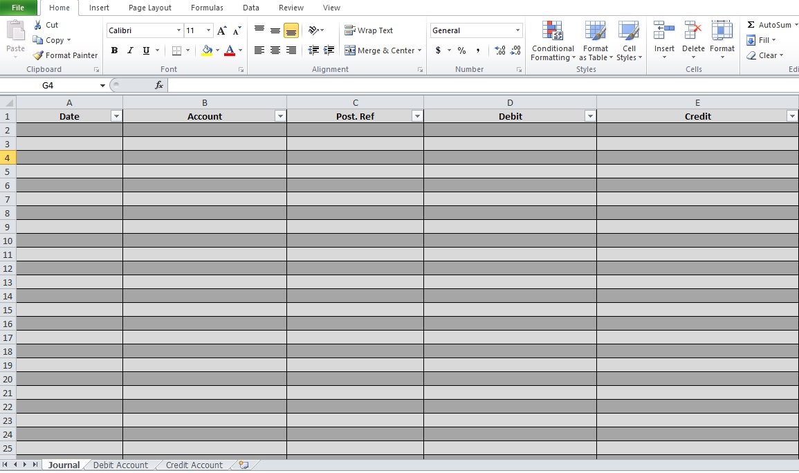 Bookkeeping Excel Templates