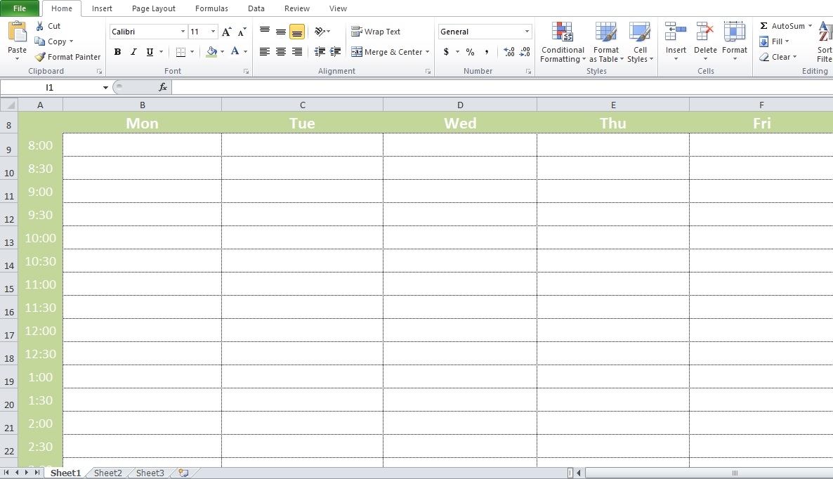 Conference Room Scheduler Excel Template