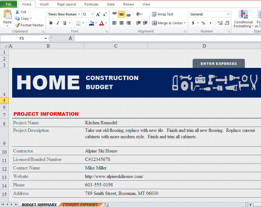 Construction Schedule Template Excel Free