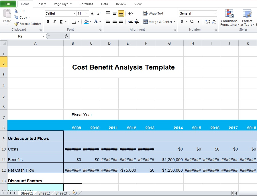 Cost Benefit Analysis Template Excel Microsoft