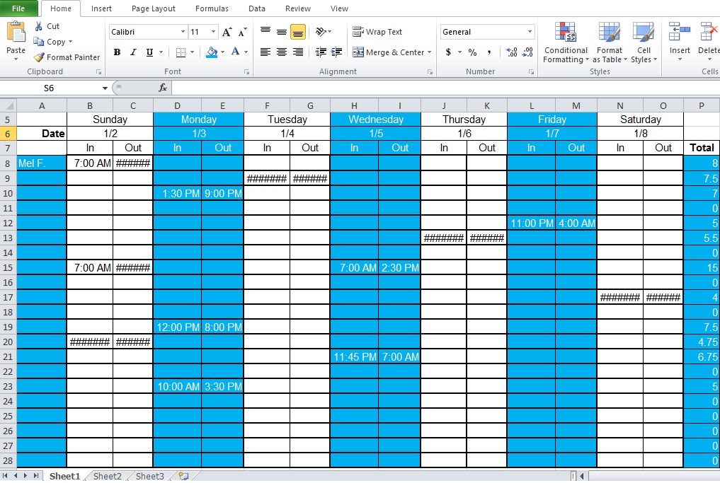 employee shift schedule generator template