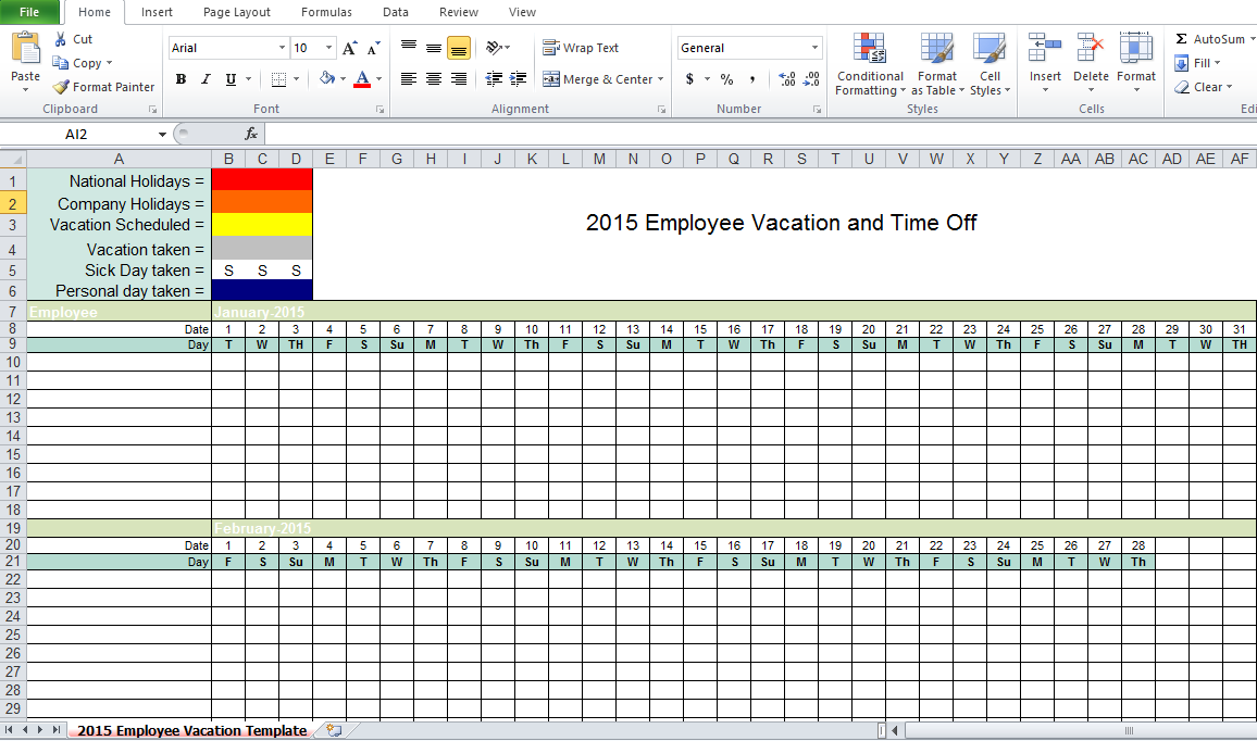 Employee vacation tracking excel template 2015 excel tmp employee vacation tracking excel template 2015 alramifo Image collections