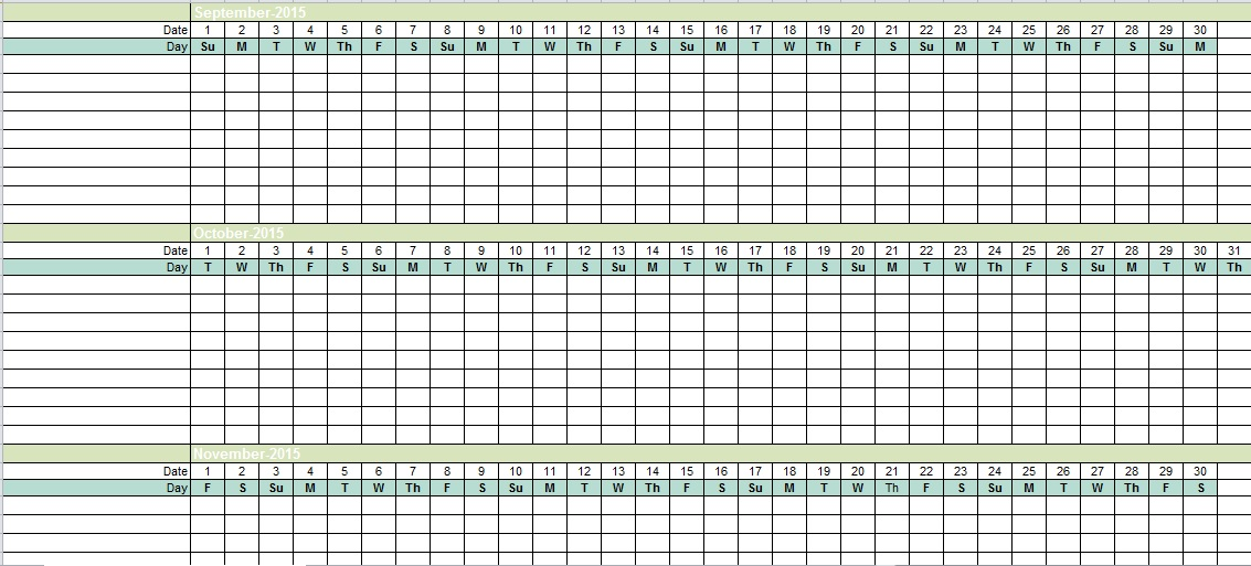 Employee Vacation Tracking Excel Template   Excel Tmp