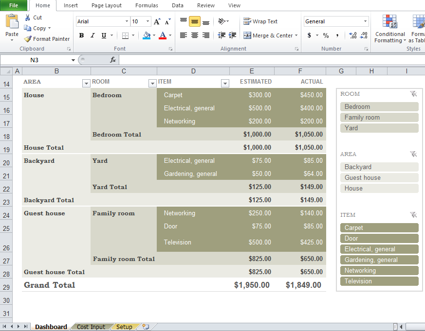 Free Home Renovation Budget Template - Excel Tmp