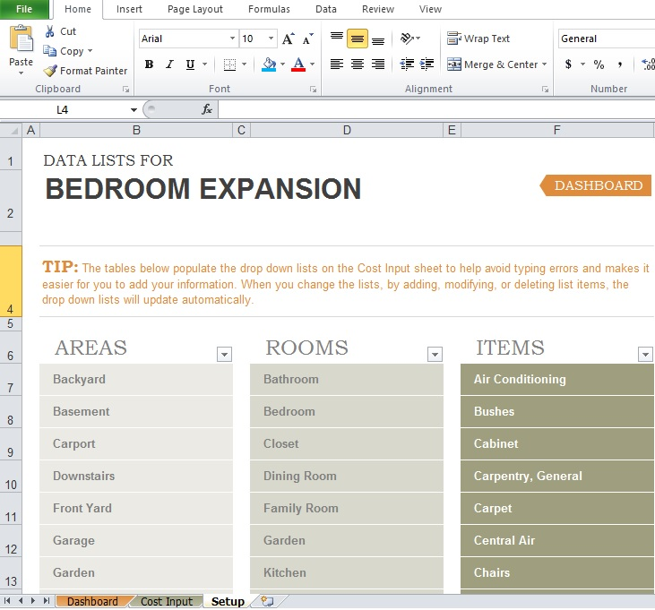 how to build a home budget spreadsheet