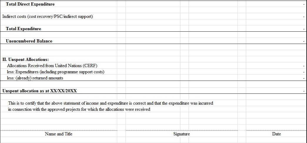 Income Expenditure Statement Excel Template