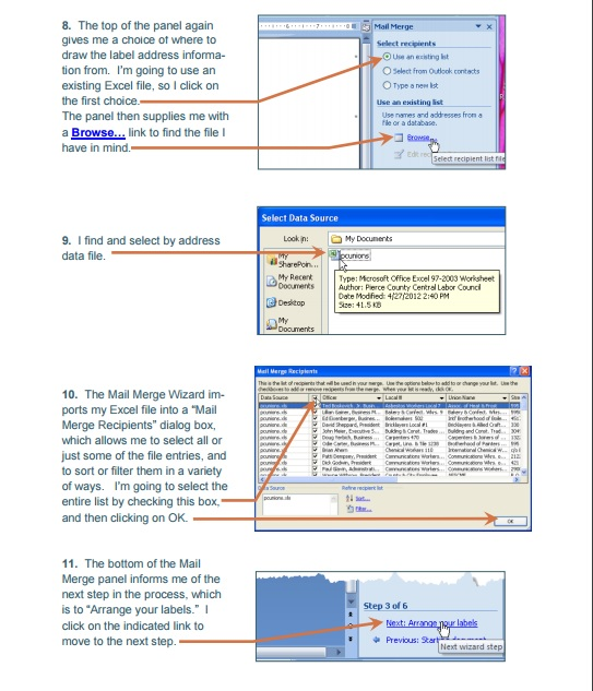 Mail Merge Excel Template