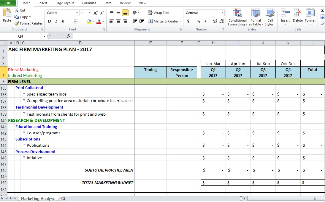 Analysis Templates Archives - Excel Tmp