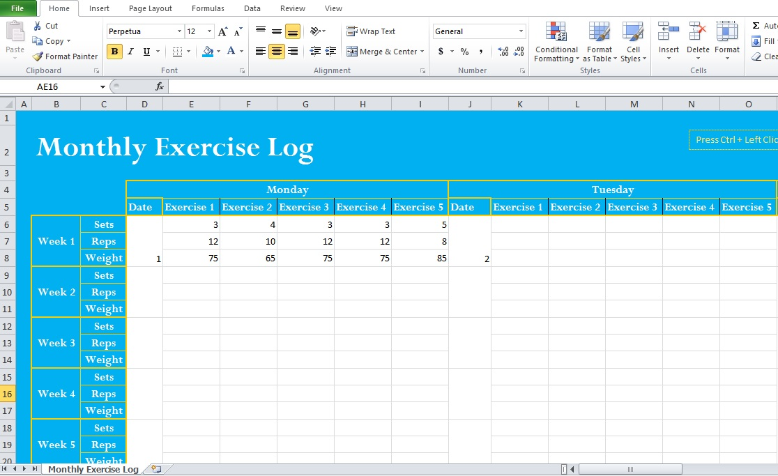 excel exercise