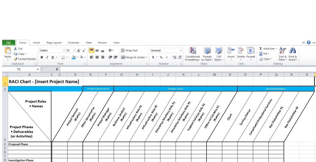 raci chart template xls