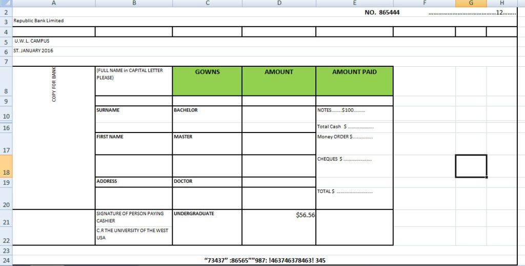 Bank Deposit Slip Template Excel - Excel Tmp