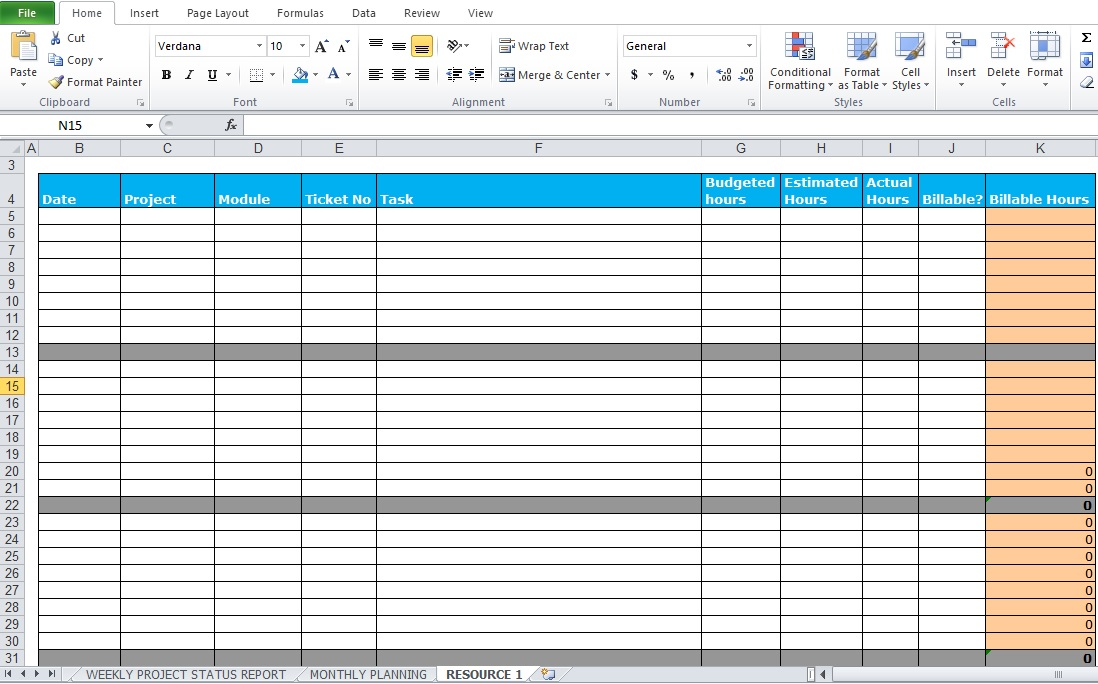 Weekly Project Status Report Template - Excel Tmp