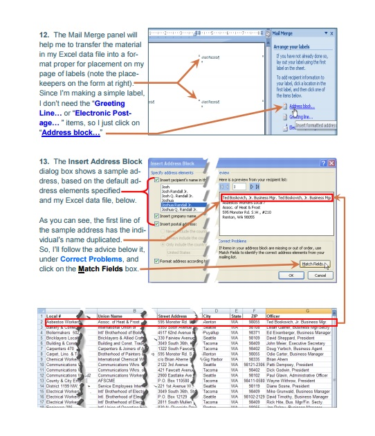 how to use mail merge with microsoft excel 2010 and microsoft word