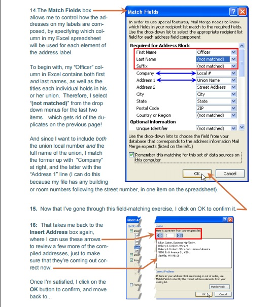 Using Microsoft's Mail Merge Feature With Excel Data
