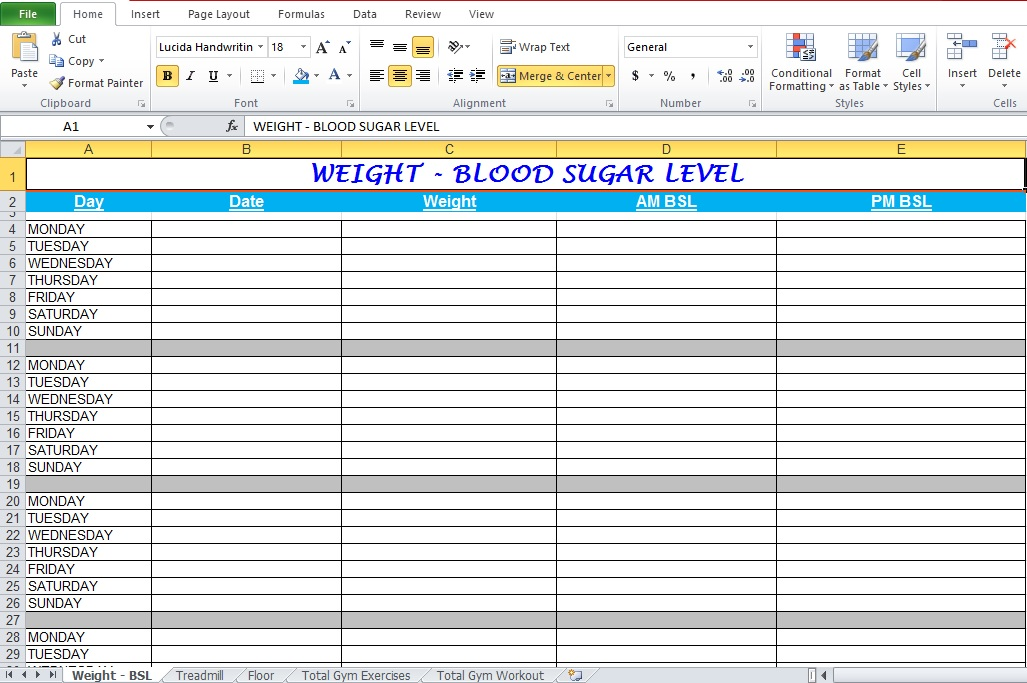 weight lifting template excel - gym workout plan spreadsheet for excel excel tmp