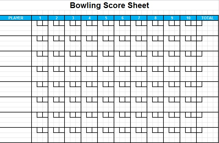 bowling score sheet excel spreadsheets