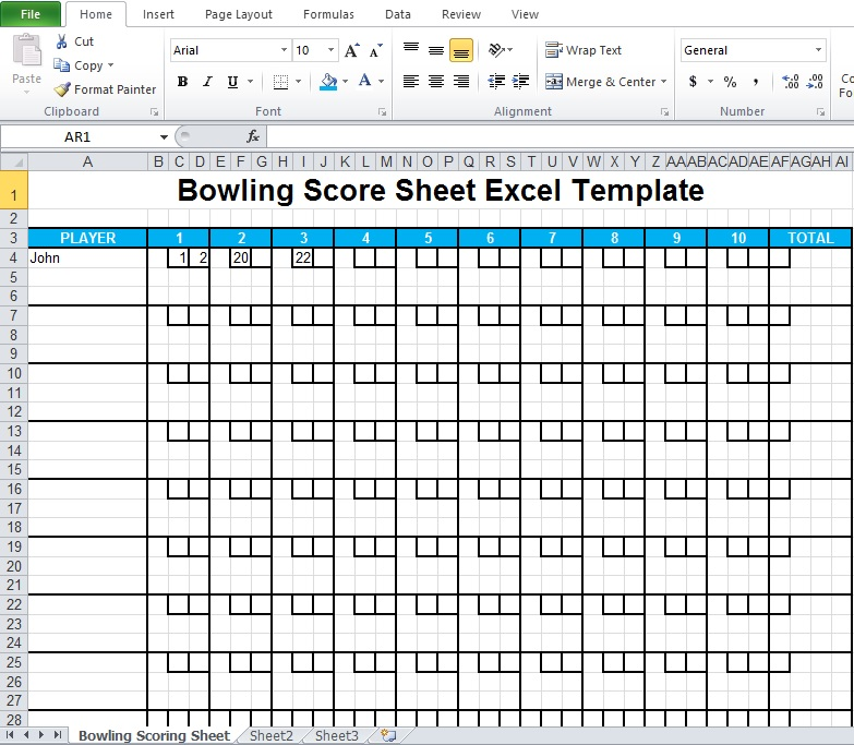 photo about Printable Bowling Score Sheet named Bowling Ranking Sheet Excel Template - Excel TMP