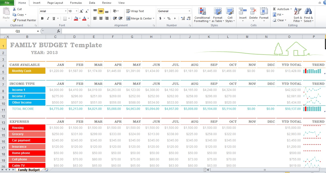 Budget Templates For Excel