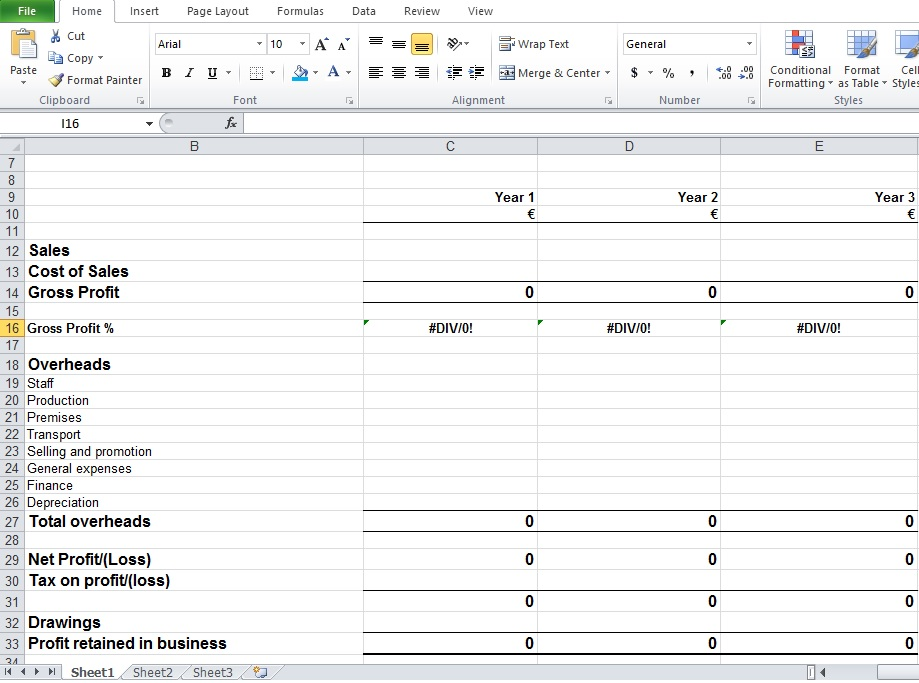 Excel Financial Plan Template