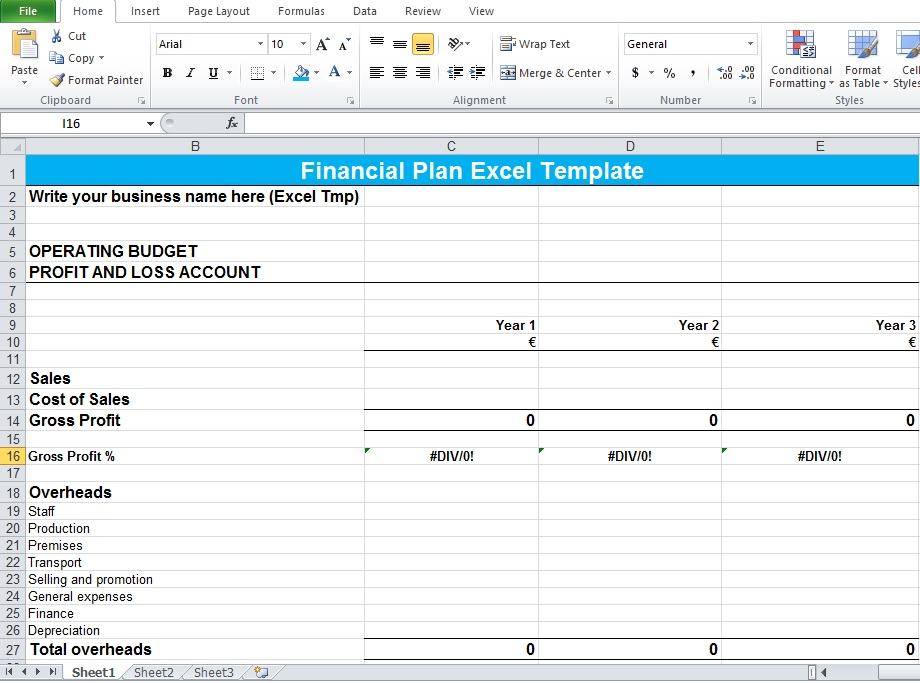 Financial Planning Worksheet Excel - Excel Tmp