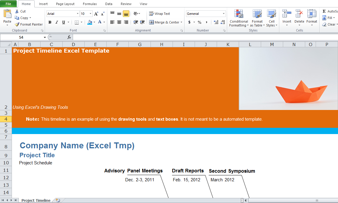 Free Project Management Timeline Template Excel Tmp - Free project timeline template