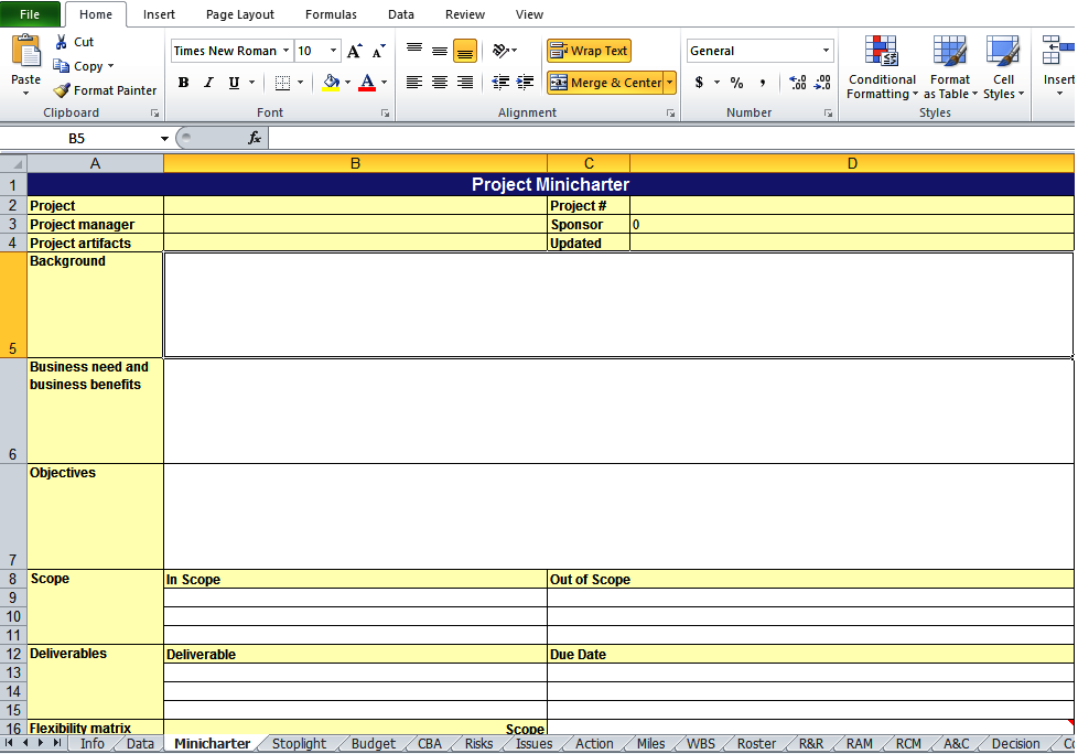 get project work plan template in xls