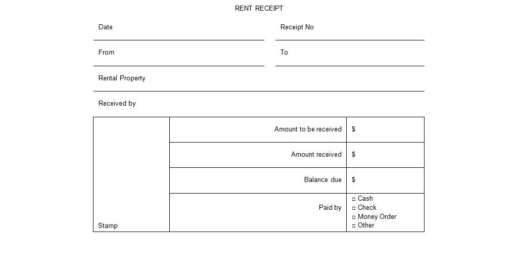 rental receipt form template excel tmp. Black Bedroom Furniture Sets. Home Design Ideas