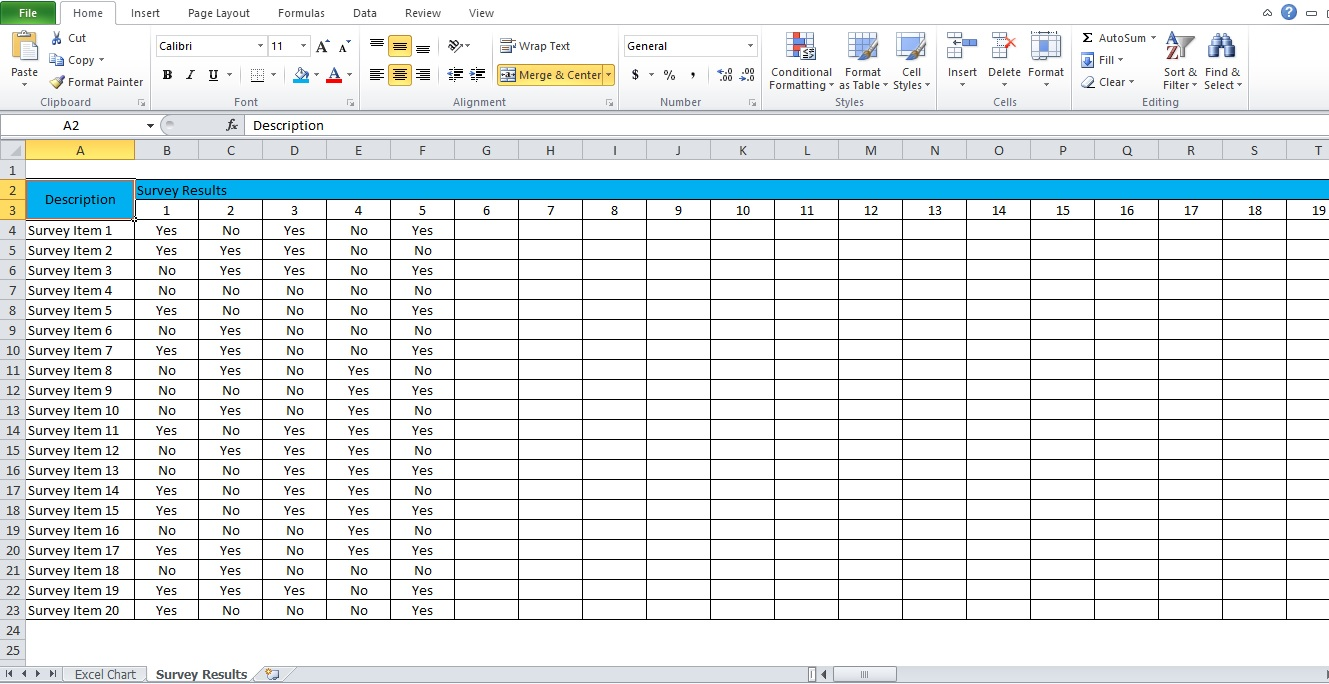sample of excel chart template