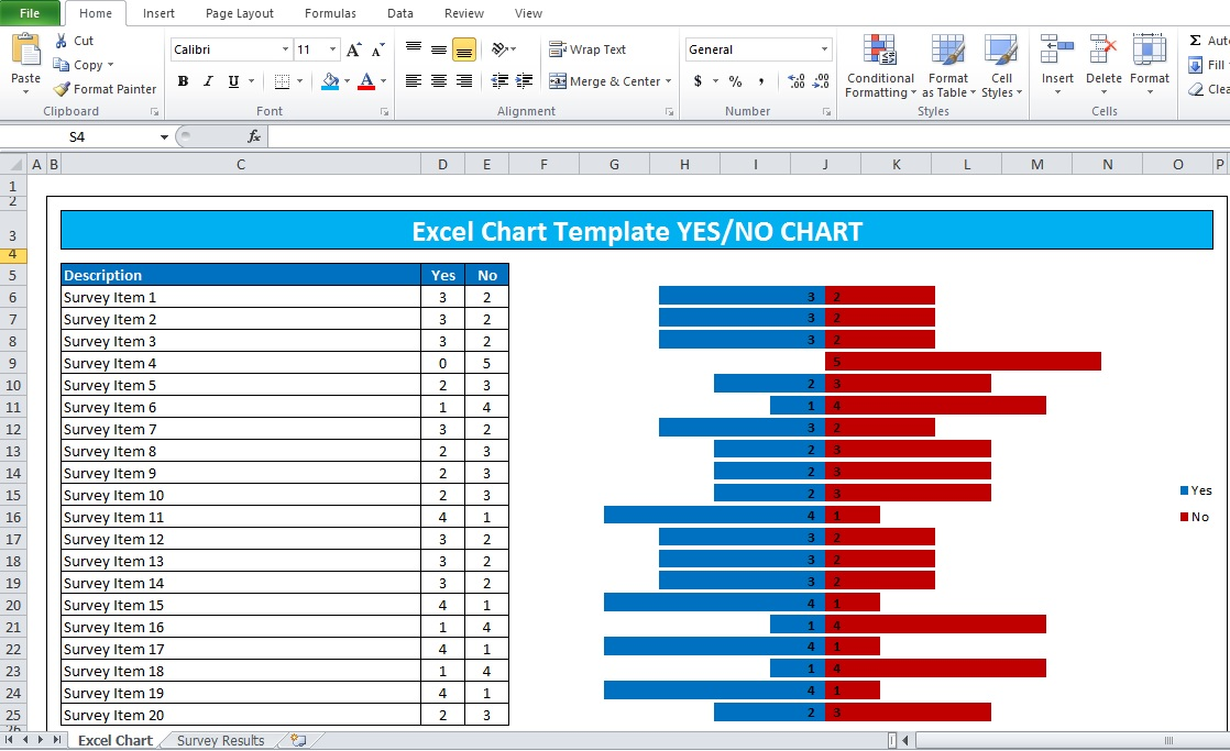 simple excel chart template