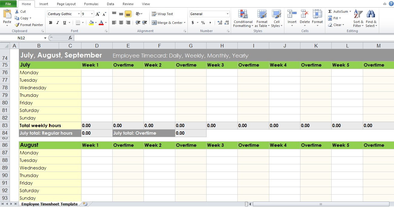 Design Excel Template