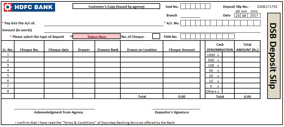 It is a photo of Bank Deposit Slips Printable for pdf