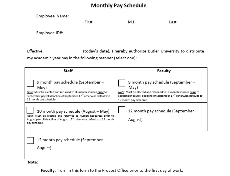 5+ Bill Payment Schedule Template, Pdf & Word ~ Excel Tmp