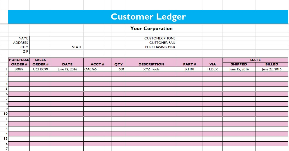 5 general ledger templates excelwordpdf microsoft