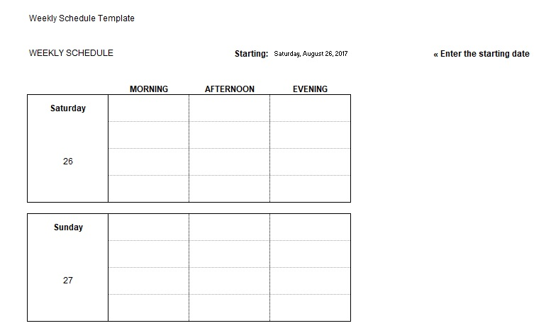 Daily Task List Excel Template