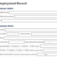 Employee Information Form Word Template