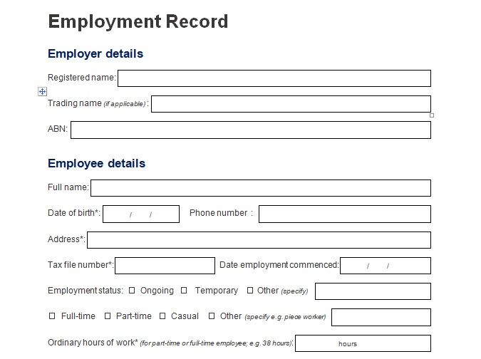 Record Of Employee Information Form Format Word And Excel  Excel Tmp