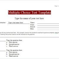 Multiple Choice Test Template