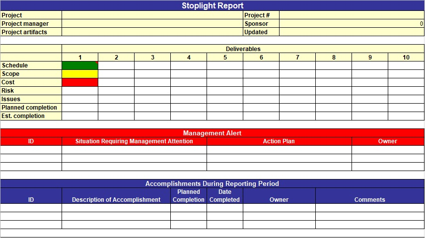 Project Planner Template  Free Project Management Excel