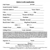 quick credit appplication form pdf