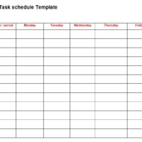weekly task list template word