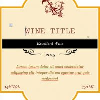 editable custom wine label template word
