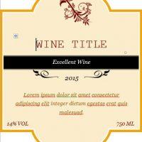Editable Custom Wine Label Template Word