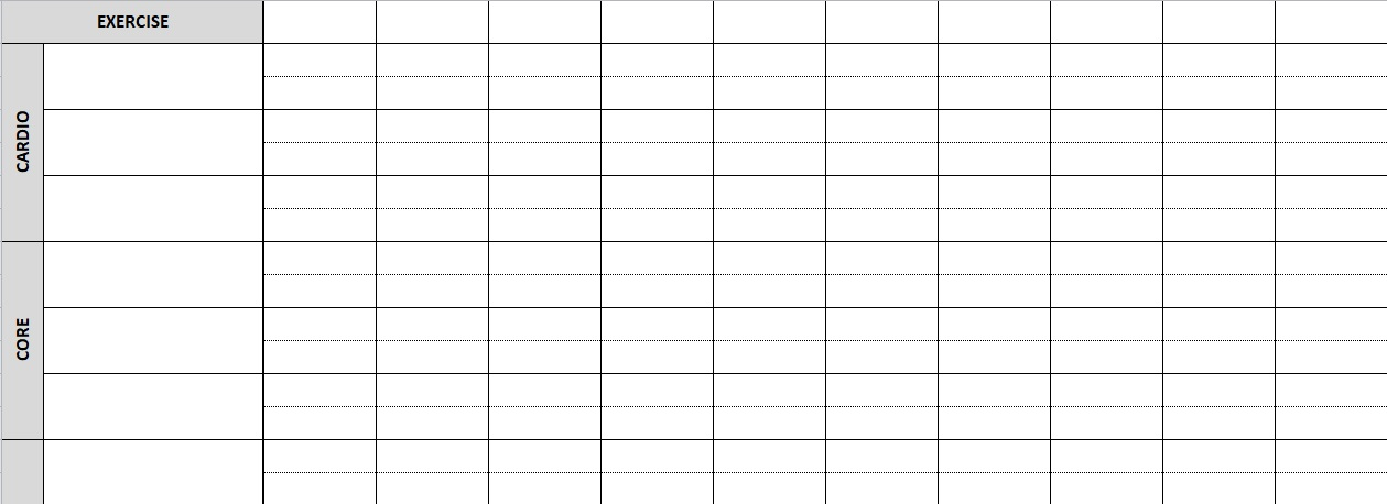 Weekly Workout Template Excel Mandegarfo