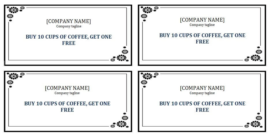 editable punch card template ms word excel tmp