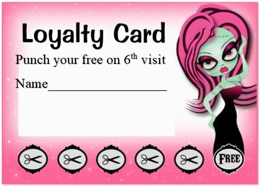 loyalty punch card template