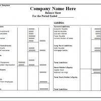 Balance Sheet Template Format Excel And Word